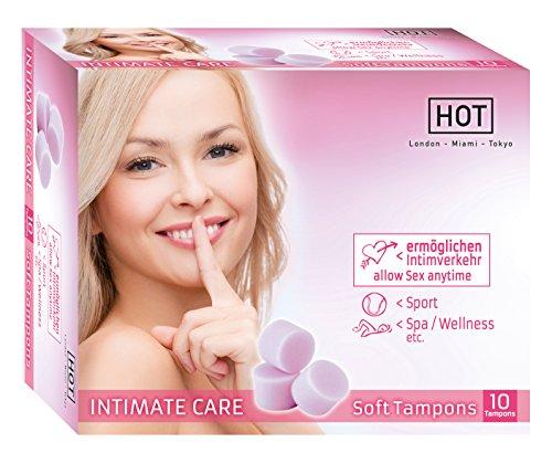Soft Tampons 10er Optimale Sicherheit an kritischen Tagen fadenlosen Tampons - perfekte Ergänzung zu herkömmlichen Tampons und Binden