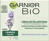 Garnier Bio Crema Anti Edad Regeneradora Aceite Esencial Lavanda y Argán Ecológicos y Vitamina E - 50 ml