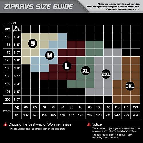 Zipravs Herren Damen Unterwäsche Kompressionshirt Compression Short Sleeve ZCSS-111
