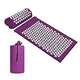 Tappetino for agopressione e set di cuscini / stuoia for agopuntura Tappetino for yoga for massaggi Rilassamento e rilascio di tensioni Rilassamento muscolare for il recupero post-sport - con borsa fo