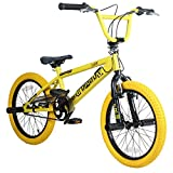 18 Zoll BMX Rooster Big Daddy Rotor Pegs schwarz gelb, Farbe:gelb/schwarz