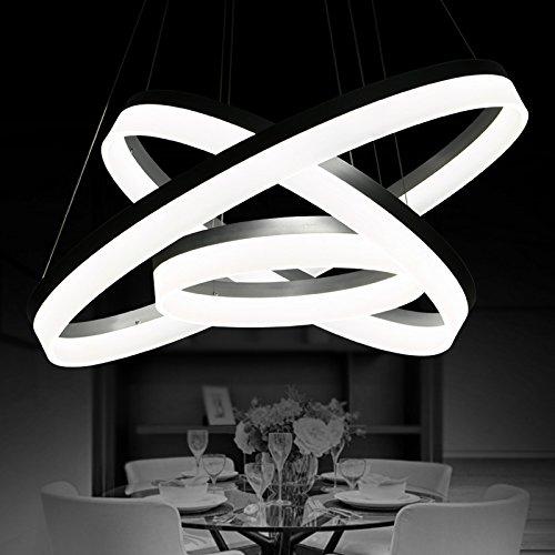 BBSLT Moda creativa combinazione di LED lampada DIY di vita lussuosa camera da letto den camera diametro lampadario 200/300/400/500/600/700/800mm , cerchio 70+50+30cm - Vita Pendente Del Cerchio