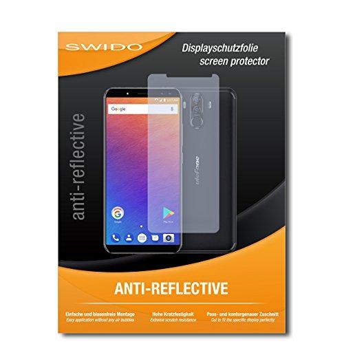SWIDO Schutzfolie für Ulefone Power 3S [2 Stück] Anti-Reflex MATT Entspiegelnd, Hoher Härtegrad, Schutz vor Kratzer/Bildschirmschutz, Bildschirmschutzfolie, Panzerglas-Folie