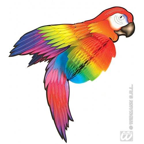 Widmann s.r.l. Wabendeko Papagei Party-Deko bunt 76cm Einheitsgröße