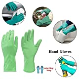Shop By Room House Hold Cleaning Rubber Hand Gloves for Kitchen Cleaning,Washing,Toilet Cleaning,Garden Cleaning -3 Pair
