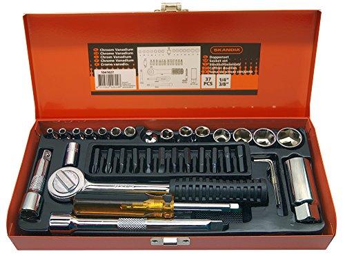 Skandia 1041827Steckschlüssel Set 1/10,2cm AND3/20,3cm 37-1, mehrfarbig