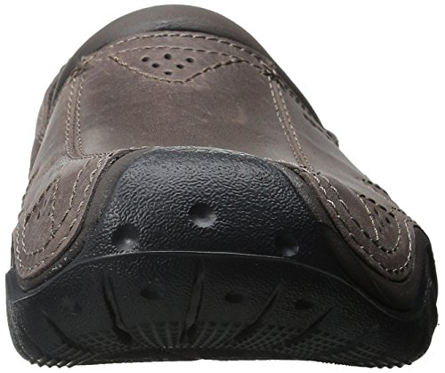 crocs Mens Swiftwater Leather Clog White/Black