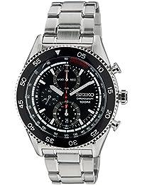 Seiko Herren-Armbanduhr Chronograph Quarz Grau SNDG57P1