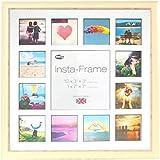 Inov8 16 x 40,64 cm tamaño pequeño Insta-Frame Marco para Instagram 13/cuadrado fotos con paspartú blanco y negro con borde, se debe lavar a crema