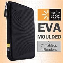 Carcasa Case Logic rígida de goma EVA moldeada, universal, para tablet/e-reader de 7 pulgadas, iPad Mini 1/2/3/4, Google Nexus 7, Asus PadFone Mini, Amazon Kindle Fire HD/HDX de 7 pulgadas, Kobo Aura One/H20, Kindle Touch/Paperwhite/Voyager, Sony eBook, Samsung Galaxy Tab 7/A, Lenovo Tab, Acer Iconia B1, Universal, Archos 7y muchos más