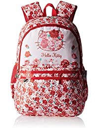 Hello Kitty Nylon 48 cms Red and White Children's Backpack (Age group :8 yrs +)