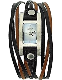 Spirit Ladies Analogue Brown & Tan Multi Thong PU Strap Fashion Watch ASPL16
