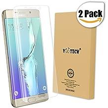 Galaxy S6 Edge Plus Protector de pantalla, Yootech [2 Unidades] [anti-bubble] [HD Clear] curvada Edge To Edge Protector de pantalla para Samsung Galaxy S6 Edge Plus, garantía de por vida