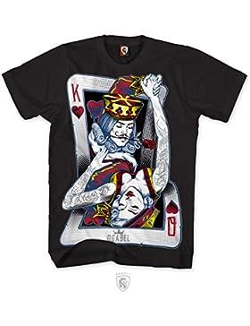 OGABEL Men's Dance Cards SS T Shirt Black