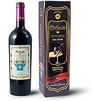"""Confezione regalo rosso Vino Nero D'Avola 2014 Terre Siciliane """"Vutti China"""" Bottiglia da 750ml"""
