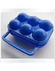 Bazaar Portátil plegable azul plástico durable 6 caso eggbox / eggbox / dos casos eggbox