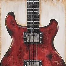 feelingathome-Impresi—n-artistica-Fender---Guitare-Rouge-cm36x36-poster-lamina-para-cuadros