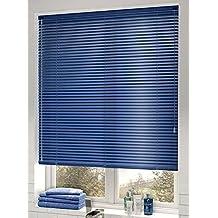 Veneciana aluminio 25mm (desde 36cm hasta 240cm de ancho). Color azul. Medida 70cm x 200cm para ventanas y puertas