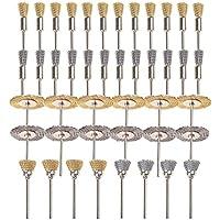 Gunpla 44 piezas Conjunto de Cepillo de Rueda de Alambre de Acero Accesorios para Herramienta Rotativa de Dremel