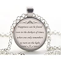 Harry Potter Quote Necklace, Book Lover Pendant, Inspirational Jewellery Gift for Women