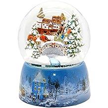 20066 Mega-Palla di neve nostalgico corsa in slitta di base in porcellana neve paesaggio 150 millimetri diametro Snowmotion e musica scatola