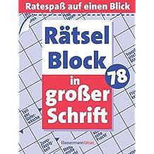 Rätselblock in großer Schrift 78: (5 Exemplare à 2,99 €)