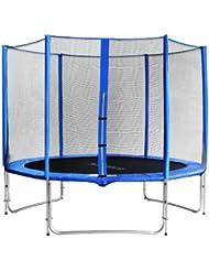 SixBros. Sixjump 3,05 M Trampoline de jardin bleu Certifié par Intertek / GS - Filet de sécurité - CST305/L1690
