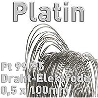 Platino PT 99,95% alambre de electrodo ⌀ 0,5mm x 100mm galvanoplástica Fein platino ánodo 10cm