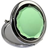 KOLIGHT®Double Sides (One is Normal,Another is Magnifying)Portable Foldable Pocket Metal Makeup Compact Mirror Woman Cosmetic Mirror (Green)