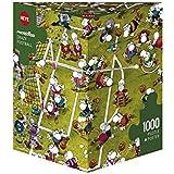 Heye 29091 - Dreieckspuzzles 1000 Teile Crazy Football, Guillermo Mordillo