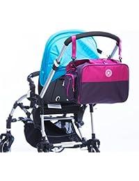 Purple And Rose : 4pcs Set Mommy Diaper Bag Large Capacity Multi-functional Maternity Bag Set Pregnant Women Backpack...