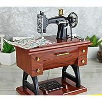 BIANJESUS Vintage Mini Máquina de Coser Estilo de la Caja de Música de Plástico Mesa de