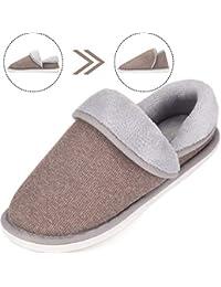 SAGUARO Unisex Pantofole Autunno Inverno Home Caldo Cotone Scarpe Peluche  Morbido Casa Pattini per Donna Uomini 59f315fdc6e