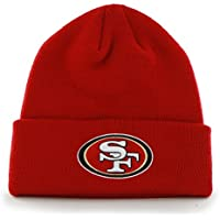 5615e751eac Mj Boutique Men s Nfl San Francisco 49Ers Cuffed Gridiron Knit Beanie  Scarlet One Size Red