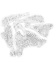 Juego de redes para tabla de billar (nylon, 6 unidades), color blanco
