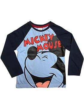 Mickey Mouse Kollektion 2016 Langarmshirt 92 98 104 110 116 122 128 Shirt Jungen Neu Top Maus Disney Blau (122...