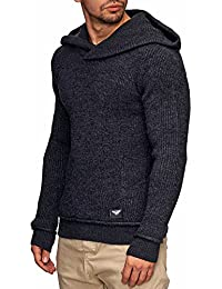 Indicode Homme Pull à Capuche tricot Pullover 35-113 Kylan