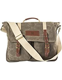 Cathy's Concepts Green Personalized Messenger Bag, Letter H