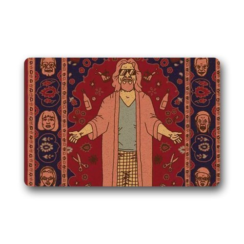 Walnut Cake Paillassons The Big Lebowski Custom Machine Washable Doormat Gate Pad Rug Non-Woven Fabric Top(23.6X15.7 inch)
