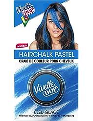 VIVELLE DOP Hairchalk Pastel Craie de Couleur pour Cheveux Coloration Éphémère Bleu Glacé 3,8 g