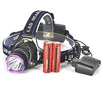Malloom® 3000 Lm XM-L T6 LED Lámpara de cabeza Faro Antorcha de la linterna 2x18650 + Cargador de CA de la UE