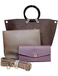 Chandrika Premium Women Handbag Made Of Leather, Handbag Cum Sling, Bag In Bag And Clutch Combo. - B07CWVWM72