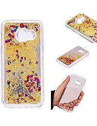 0bb05ef464467a Everainy Coque Samsung Galaxy A3 2017 Silicone Miroir 3D Paillette Glitter  Transparent Souple Bumper Bling Antichoc