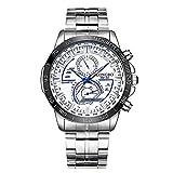 Relojes de Pulsera para Hombres Cinturón de Acero Multifuncional Reloj de los Hombres Reloj Luminoso a Prueba de Agua Casual Honestyi
