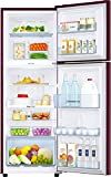 Samsung 253L 3 Star Frost Free Double Door Refrigerator (RT28N3923R8/HL, Saffron Red, Convertible, Inverter Compressor)