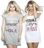 Ladies Ex Ann Summers Night Shirt (2 Pack) 6-8, 10-12, 14-16, 18-20, 22-24 (6-8)