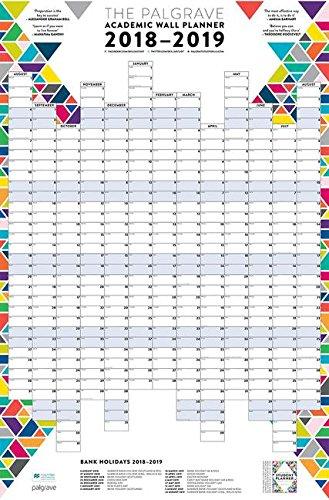 The Palgrave Academic Wall Planner 2018-19 (Palgrave Study Skills)