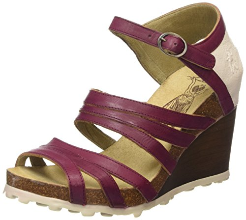 FLY London Anke617fly, Sandales Bout Ouvert Femme Multicolore (MAGENTA/OFFWHITE 005)