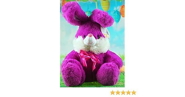 Blue Purple 25cm Sitting Easter Bunny Soft Plush Cuddly Toy Pink