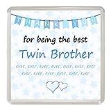 Something Special Gift Shop Twin Brother Danke, für die beste Ever 'Untersetzer Getränke Matte Fun Neuheit Geschenk